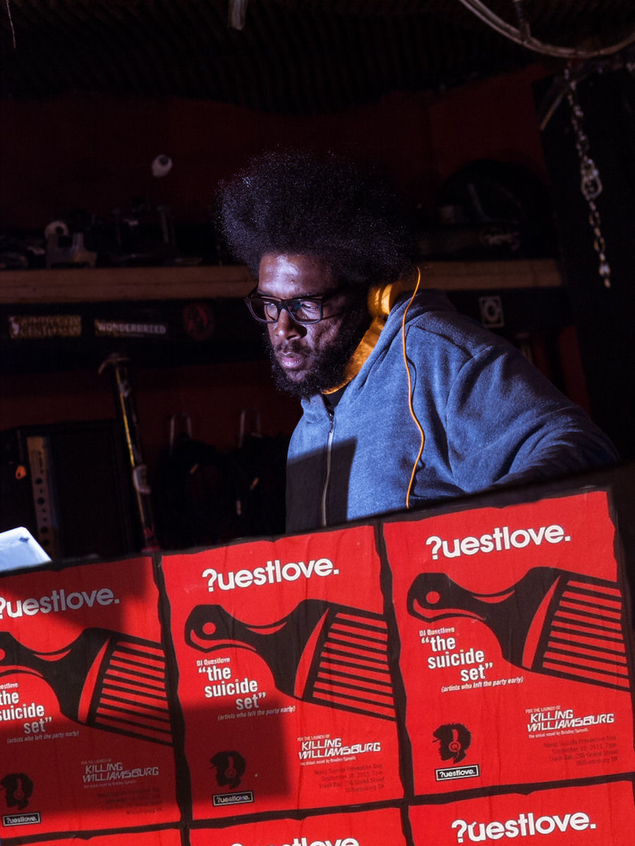 "Questlove spinning ""The Suicide Set"""